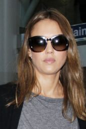 Jessica Alba Travel Outfit - at LAX Airport in Los Angeles 6/17/2016