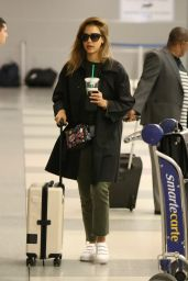 Jessica Alba Travel Outfit - Leaving JFK Airoport in New York 6/13/2016
