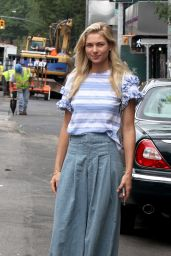 Jessica Hart Casual Style - At Gemma Restaurant in the East Village NYC 6/23/2016