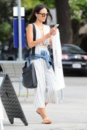 Jordana Brewster Inspiring Style - Shopping in Santa Monica 6/5/2016