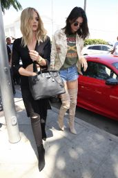 Kendall Jenner and Khloe Kardashian at Il Pastaio Restaurant in Beverly Hills 6/13/2016
