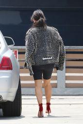 Kim Kardashian Casual Chic Outfit - Heads to the Studio Santa Monica, 5/31/2016