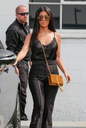 Kourtney Kardashian Classy Fashion - Slips Out of the Studio in Van Nuys 6/10/2016