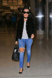 Kourtney Kardashian in Ripped Jeans - On Her Way to London 6/5/2016