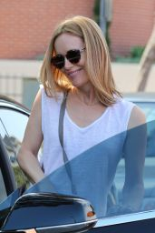 Leslie Mann Street Style - Leaving Mecha Salon Beverly Hills, June 2016