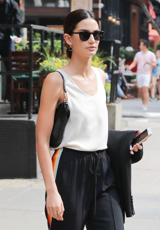 Lily Aldridge - Out in NYC 6/4/2016