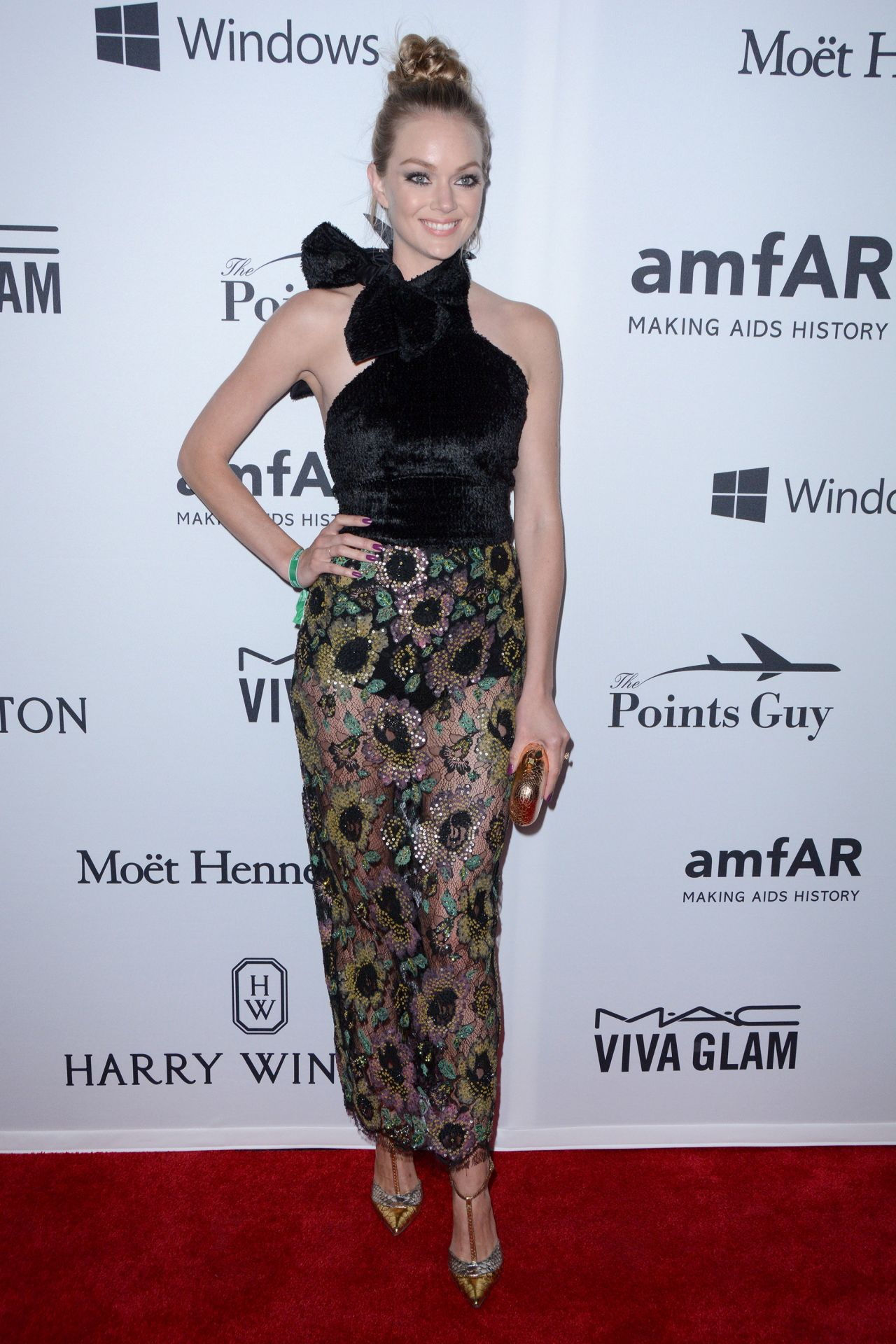 Lindsay Ellingson 2016 AmfAR Inspiration Gala In New