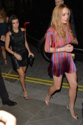 Lindsay Lohan and Kourtney Kardashian Night Out - at Ours Restaurant in London 6/8/2016