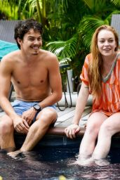 Lindsay Lohan in a Bikini in Mauritius, June 2016
