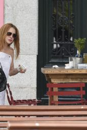 Lindsay Lohan Summer Outfit Ideas - Out in Madrid 6/10/2016