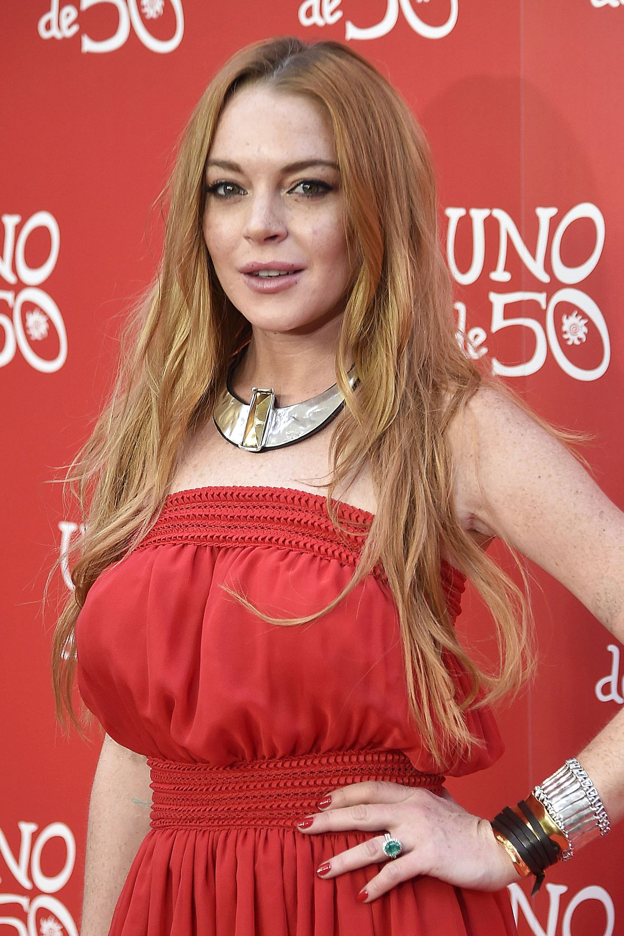 Lindsay Lohan Uno De 50 Jewelry Brand Photocall In