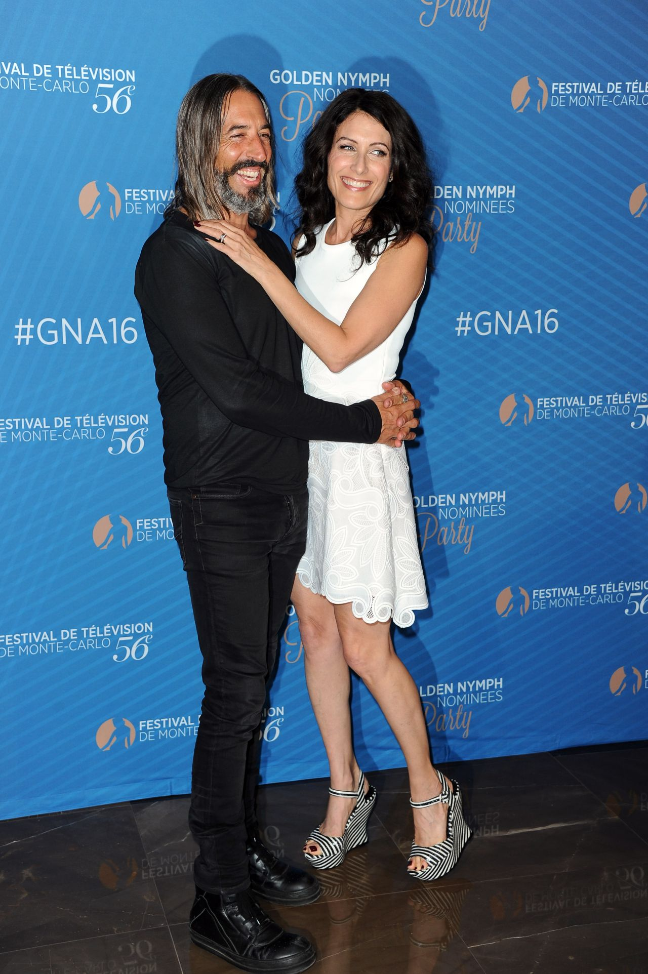 Lisa Edelstein Golden Nymph Nominee Party 2016 Monte