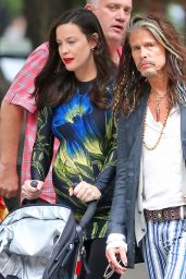 Liv Tyler and Steven Tyler - Walks in the West Village in New York 6/23/2016