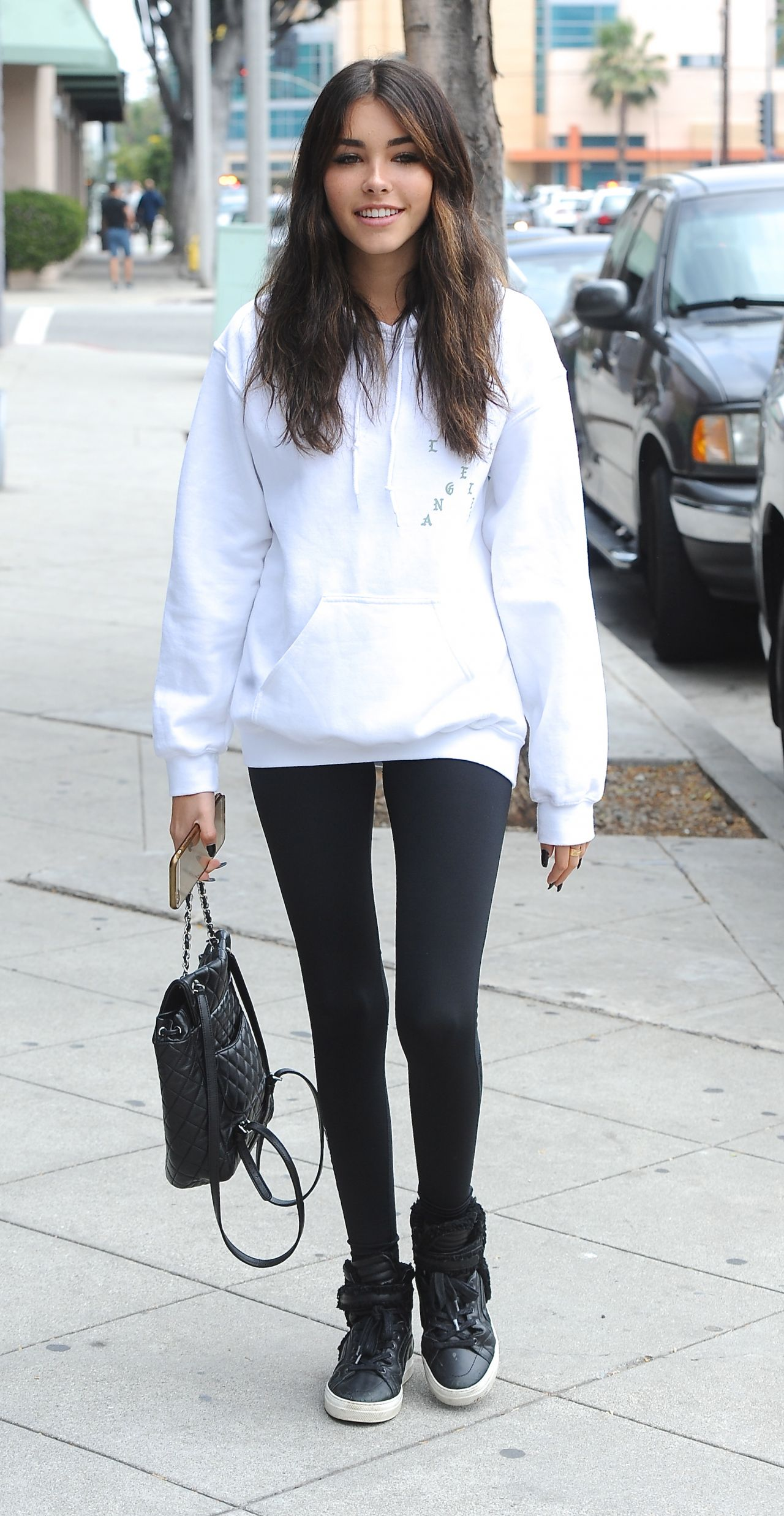 madison beer cute outfit out in los angeles 6142016