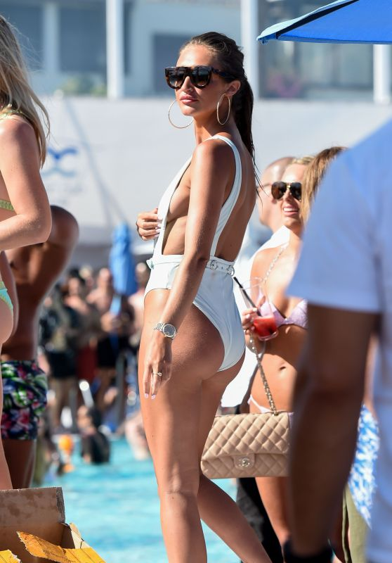 Megan McKenna in a Swimsuit - Towie Poolparty in Marbella 5/29/2016