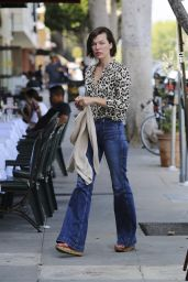 Milla Jovovich Urban Outfit - Strolling Out in Los Angeles 6/14/2016