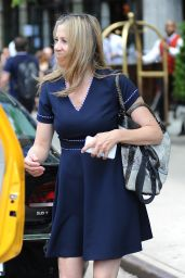 Mira Sorvino Cute Outfit - Out in New York City 6/7/2016