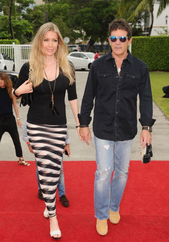 Nicole Kimpel and Antonio Banderas - Miami Fashion Week 6/5/2016