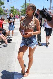 Nina Agdal - Mermaid Parade in Coney Island 6/18/2016
