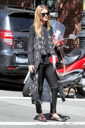 Olivia Palermo - Hail a Cab in New York City 6/15/2016