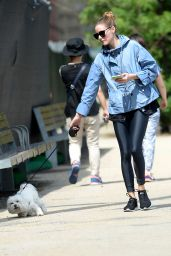 Olivia Palermo Walks Her Dog Before Hitting the Gym in NYC 5/31/2016