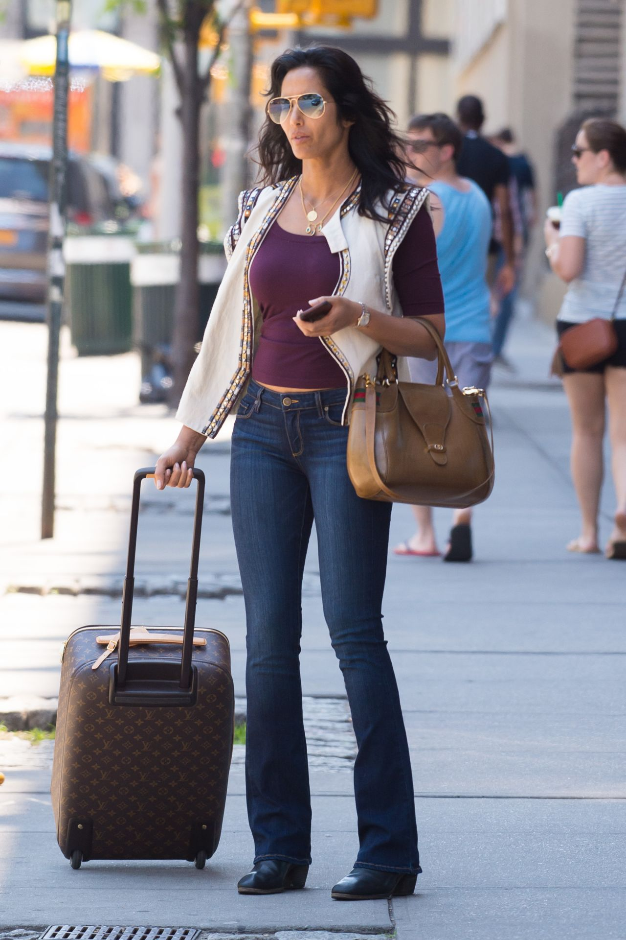 Padma Lakshmi Street Style Out In Soho In New York City