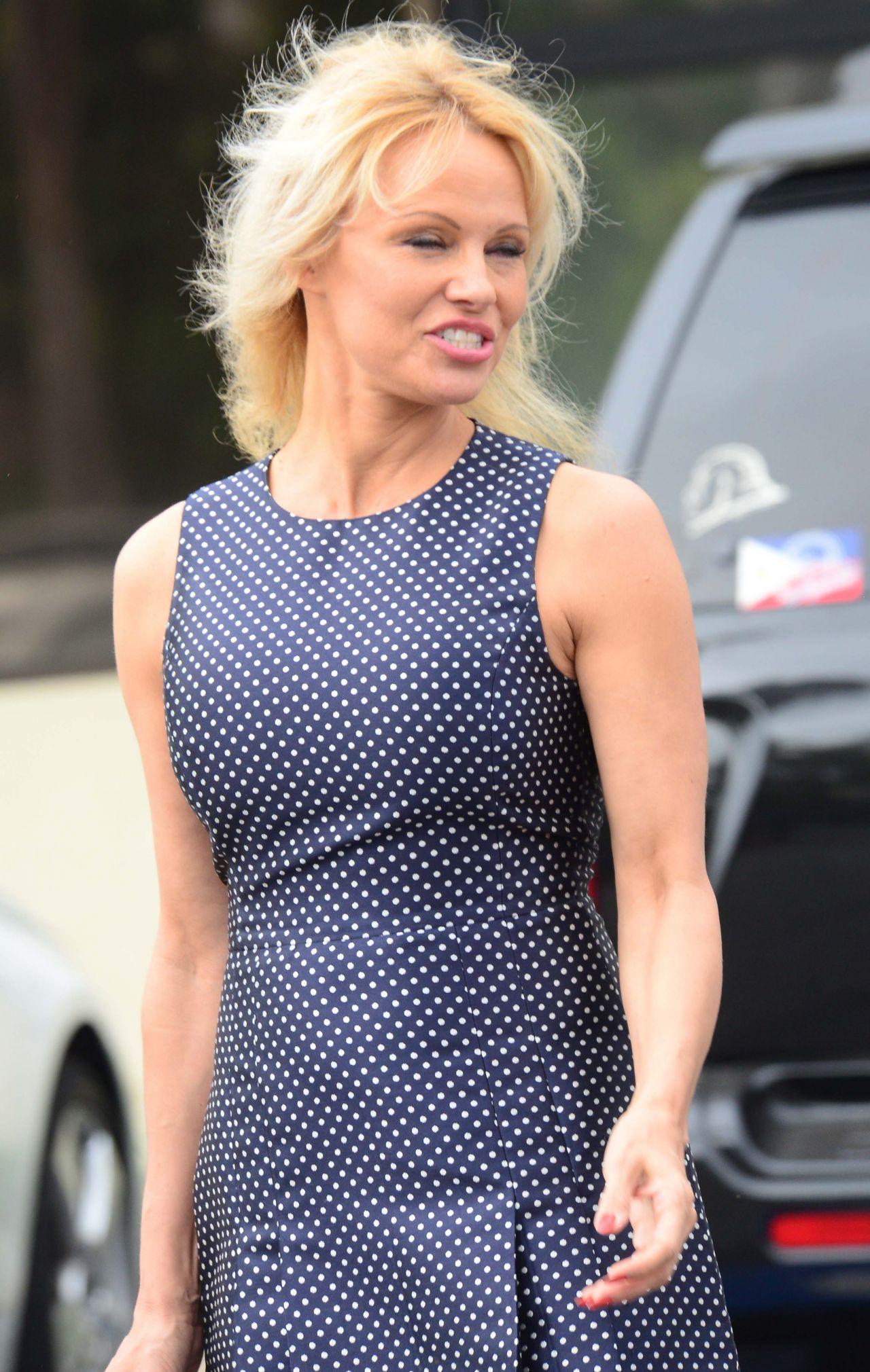 Pamela Anderson at a Hair Salon in Beverly Hills 6/1/2016 Pamela Anderson