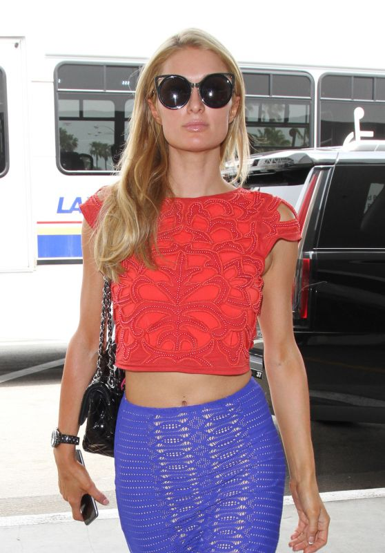 Paris Hilton at Los Angeles International Airport 5/31/2016