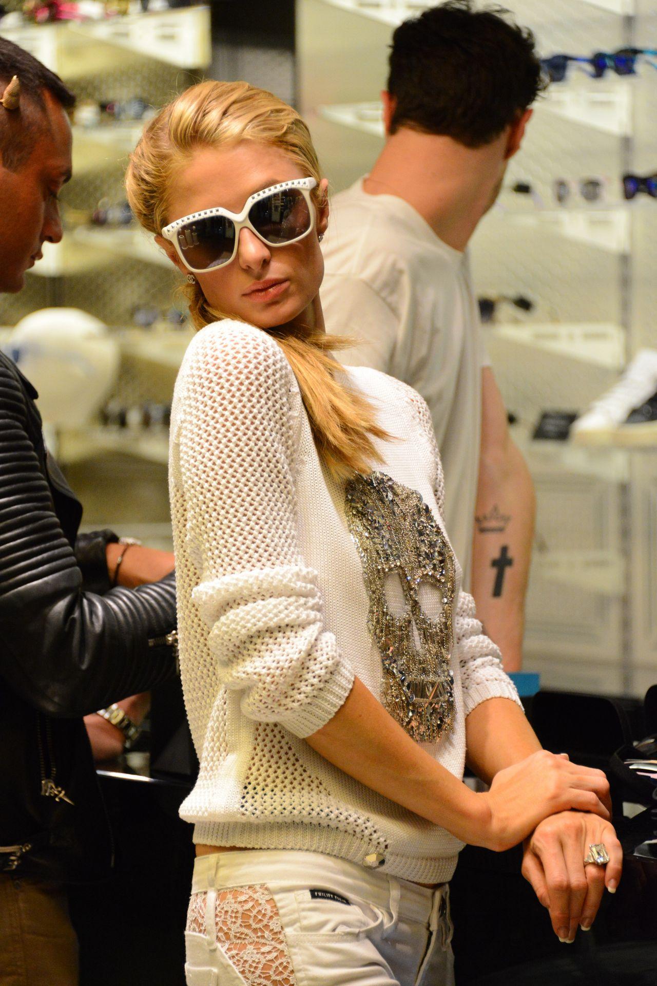 Paris Hilton With Her Italian Boyfriend Pietro Tavallini