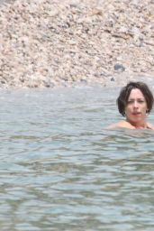 Rebecca Hall in Red Bikini in Taormina 6/13/2016