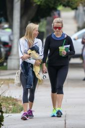 Reese Witherspoon - Leaving the Gym With a Friend in Brentwood 6/6/2016