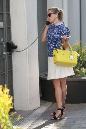 Reese Witherspoon Office Chic Outfit - Leaving Her Office in Beverly Hills 6/7/2016
