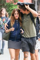 Riley Keough and Her Husband - Out for a Stroll in New York City 6/23/2016