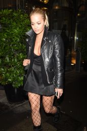 Rita Ora Night Out Style - Leaving Mr Chow