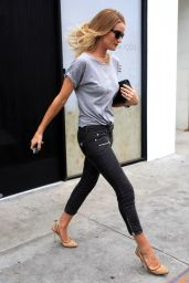 Rosie Huntington-Whiteley Casual Outfit - Out in West Hollywood 6/28/2016