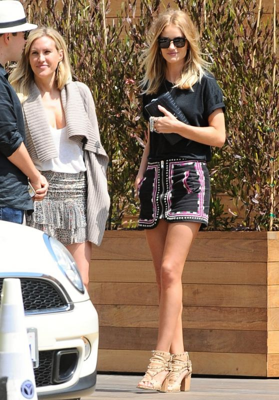 Rosie Huntington-Whiteley in Mini Skirt - Out in Malibu 6/4/2016