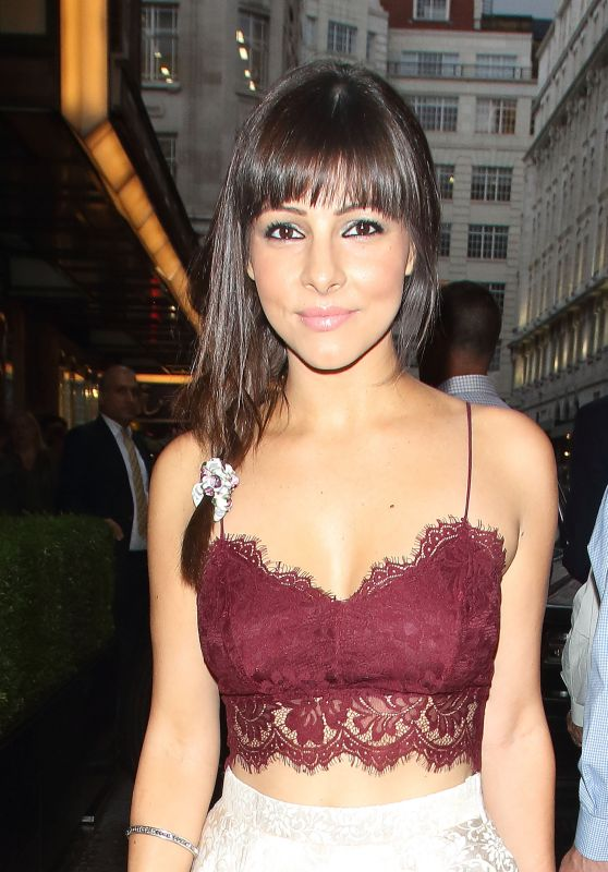 Roxanne Pallett Arrives at the Savoy Theatre in London 6/23/2016
