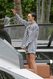 Ruby Rose Shows of Her Abs - On a Boat in Miami Beach 6/5/2016