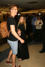 Sasha Pieterse - Arriving at LAX Airport in Los Angeles, June 2016