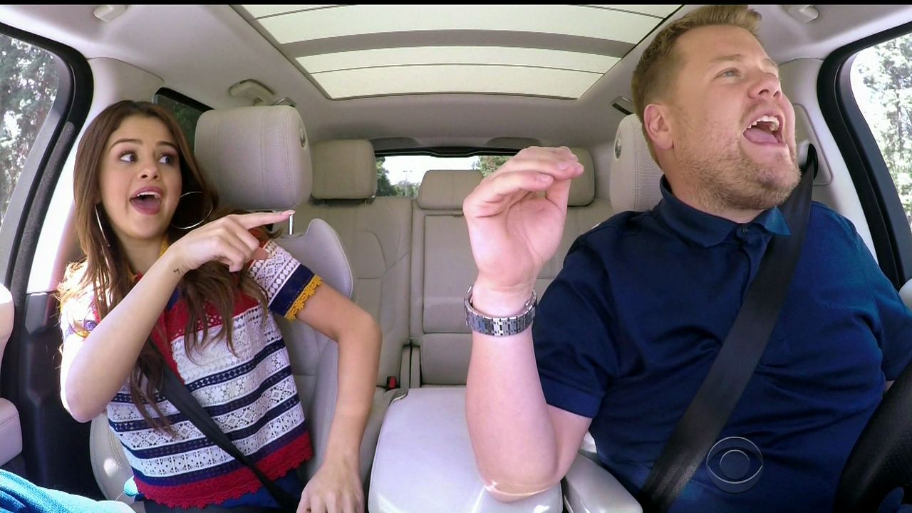 selena gomez carpool karaoke on the late late show with
