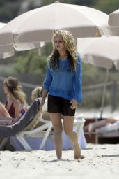 Shakira in a Bikini at the Beach in Ibiza, Spain 5/25/16, May 2016