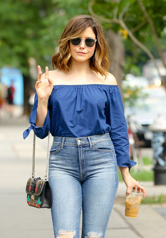 Sophia Bush Street Style - Out  in New York City 6/23/2016