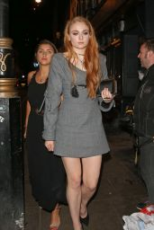 Sophie Turner - Leaving the Groucho Club in London 6/7/2016
