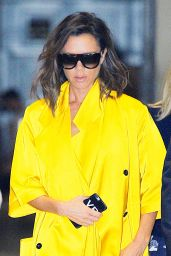 Victoria Beckham Chic Style - Arrives for a Meeting in Midtown, NYC 6/23/2016
