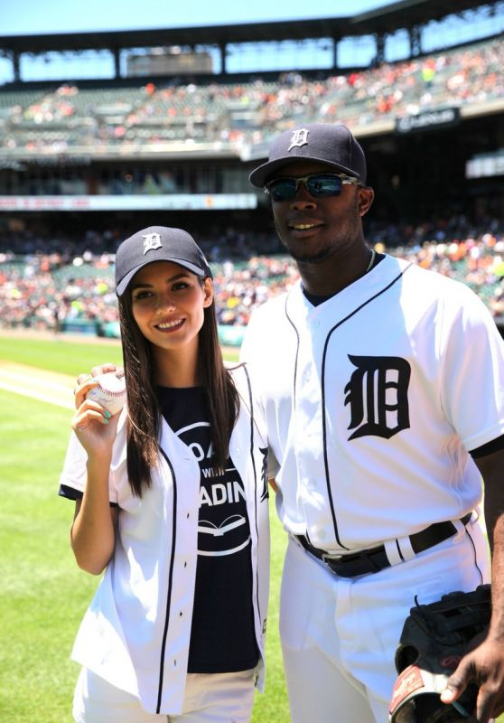 Victoria Justice at a Detroit Tigers Game in Detroit 6/29/2016