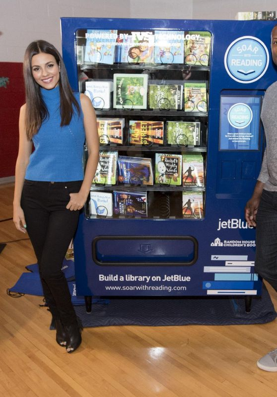 Victoria Justice - JetBlue's Soar With Reading Program Event in Detroit 6/28/2016