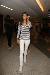 Victoria Justice Travel Outfit - at LAX in LA 6/1/2016