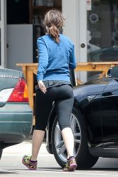 Zooey Deschanel in Leggings - Out in Hermosa Beach 6/15/2016