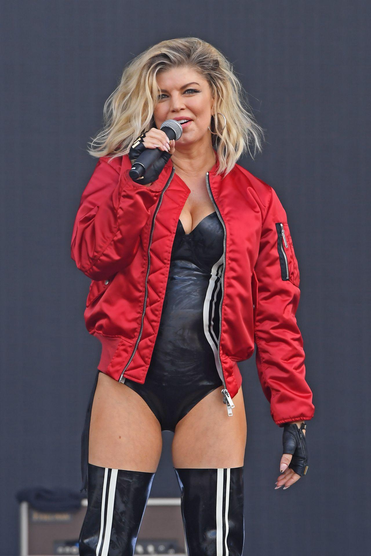 Fergie Performing on Wireless Festival 2016 in London