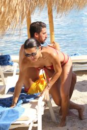 Adriana Lima in Red Bikini - Mykonos, Greece, 07/10/2016
